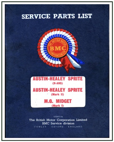 AUSTIN HEALEY FROGEYE SPRITE MK I MECHANICAL PARTS LIST PDF