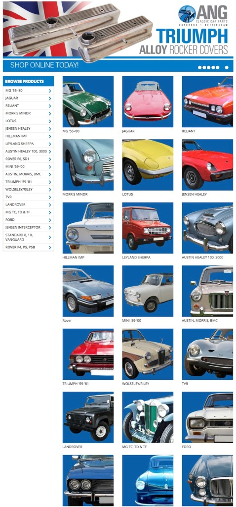 ANG CLASSIC CAR PARTS in SCOTTYS Supplier Library