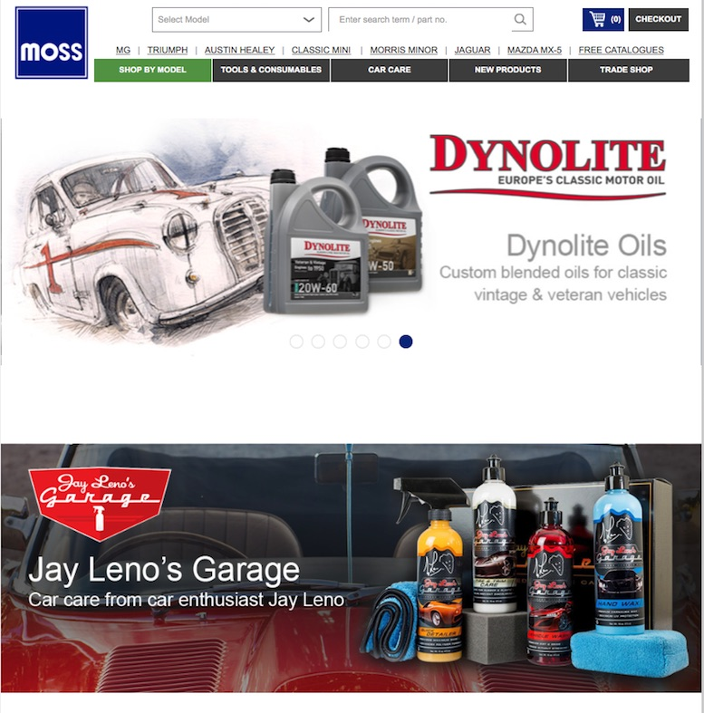 MOSS CLASSIC CAR PARTS in SCOTTYS Supplier Library