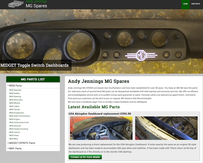 ANDY JENNINGS MG SPARES in SCOTTYS Supplier Library IMG3