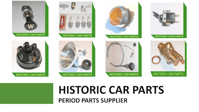 HISTORIC CAR PARTS on SCOTTYS Supplier Library