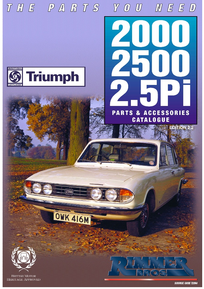 TRIUMPH 2000 2500 2.5Pi PARTS GUIDE | RIMMER on SCOTTYS Pic2