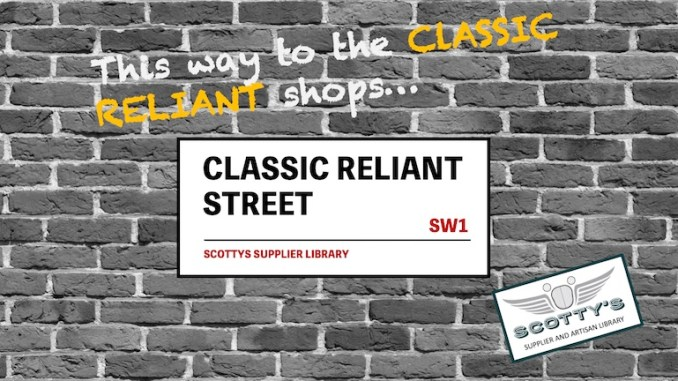 CLASSIC RELIANT PARTS SUPPLIERS