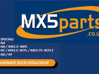 MAZDA MX5 PARTS GUIDE in SCOTTYS Technical Library