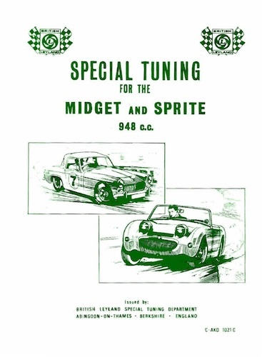 MIDGET SPRITE SPECIAL TUNING MANUAL ( 948CC ENGINES ) Ref- C AKD1021C img2