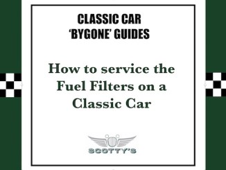 How to service the fuel filters on a Classic Car