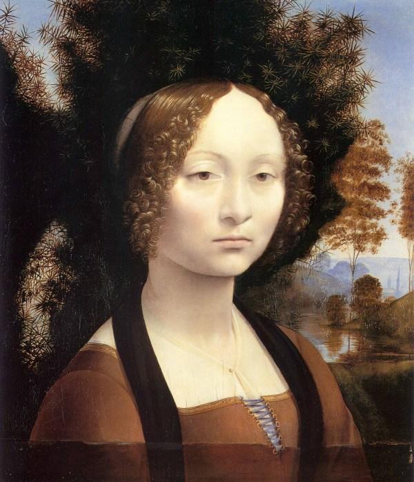 Portrait of Ginevra De' Benci Leonardo Da Vinci