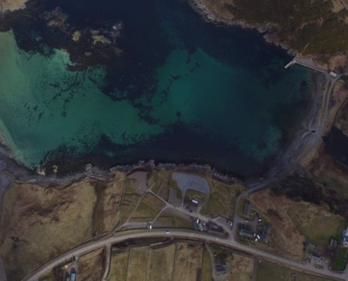 Overhead image of Scourie caravan and camping site