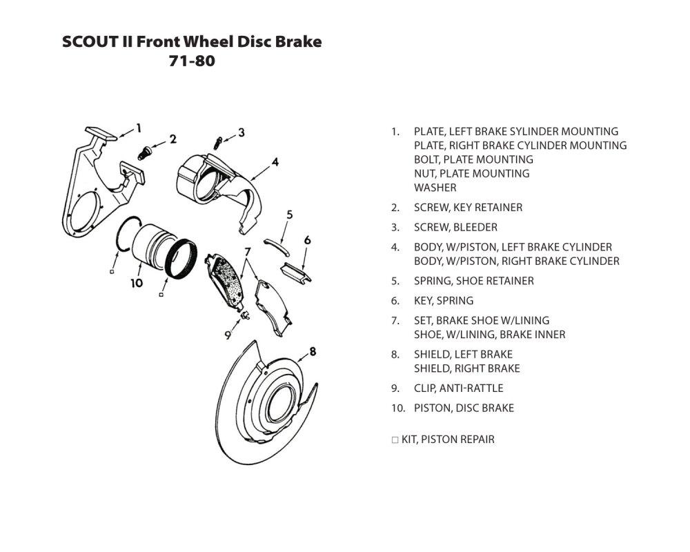 medium resolution of front wheel disc brake