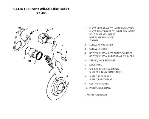 small resolution of front wheel disc brake