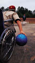 bowling from a wheelchair