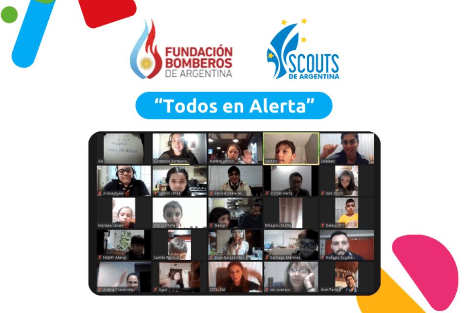 """Lobatos y Lobeznas participaron del programa """"Todos en Alerta"""""""
