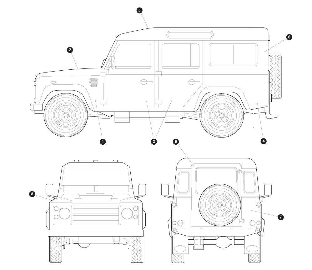 Land Rover Defender 110 Body Shell