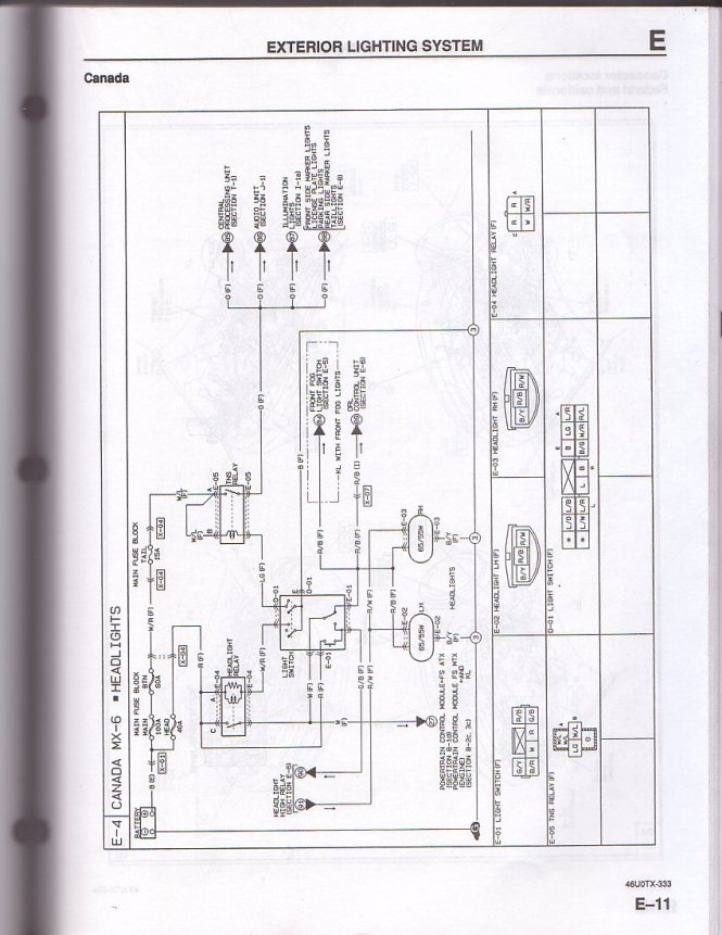 mazda headlight wiring diagram image mazda 6 wiring diagram manual wiring diagram on 2003 mazda 6 headlight wiring diagram