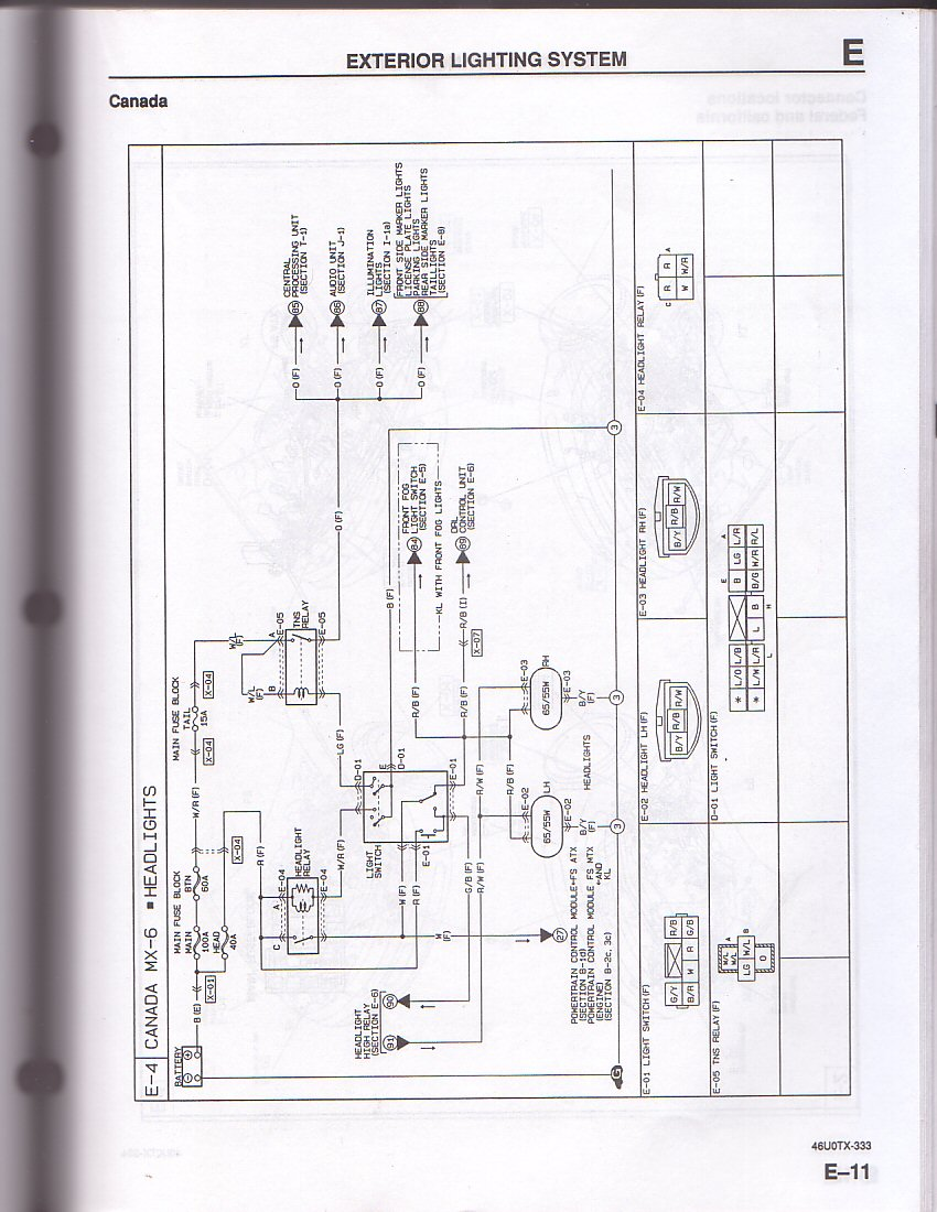 hight resolution of mazda mx6 wiring harness wiring diagram query mazda mx6 wiring harness