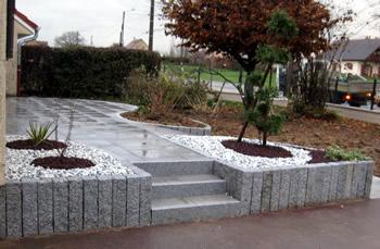 aménagement naturel en granit