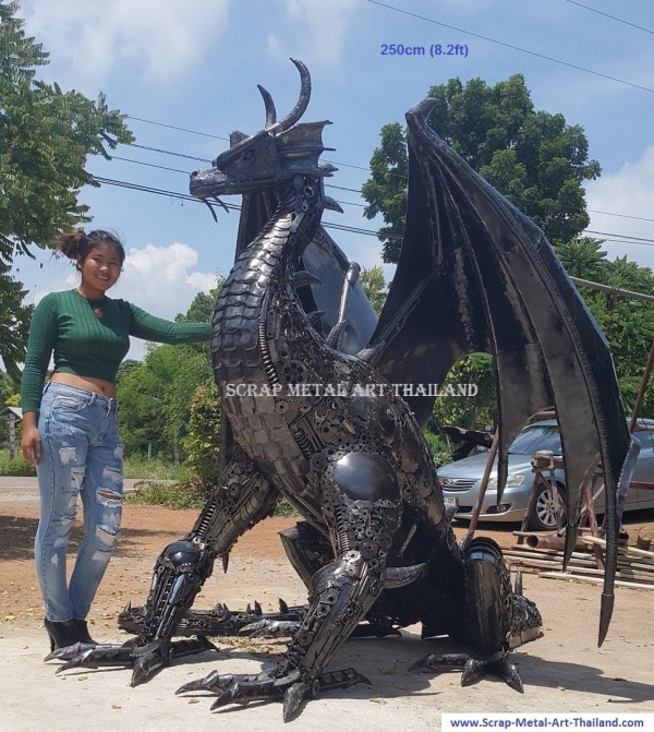 Scrap Metal Art Sculptures Dragon