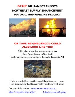 Printable Handout to STOP the Williams-Transco Gass Compressor Station & Pipeline Expansion