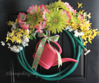 Turn an Old Garden Hose into a Spring Wreath - Scrapality