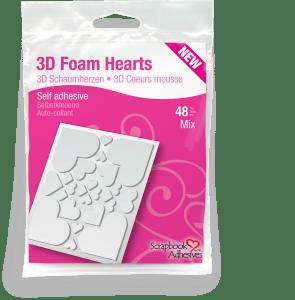 3D Foam Hearts