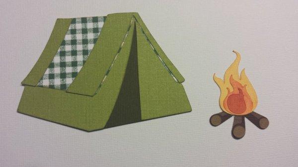 Scraproom Camping Die Cut