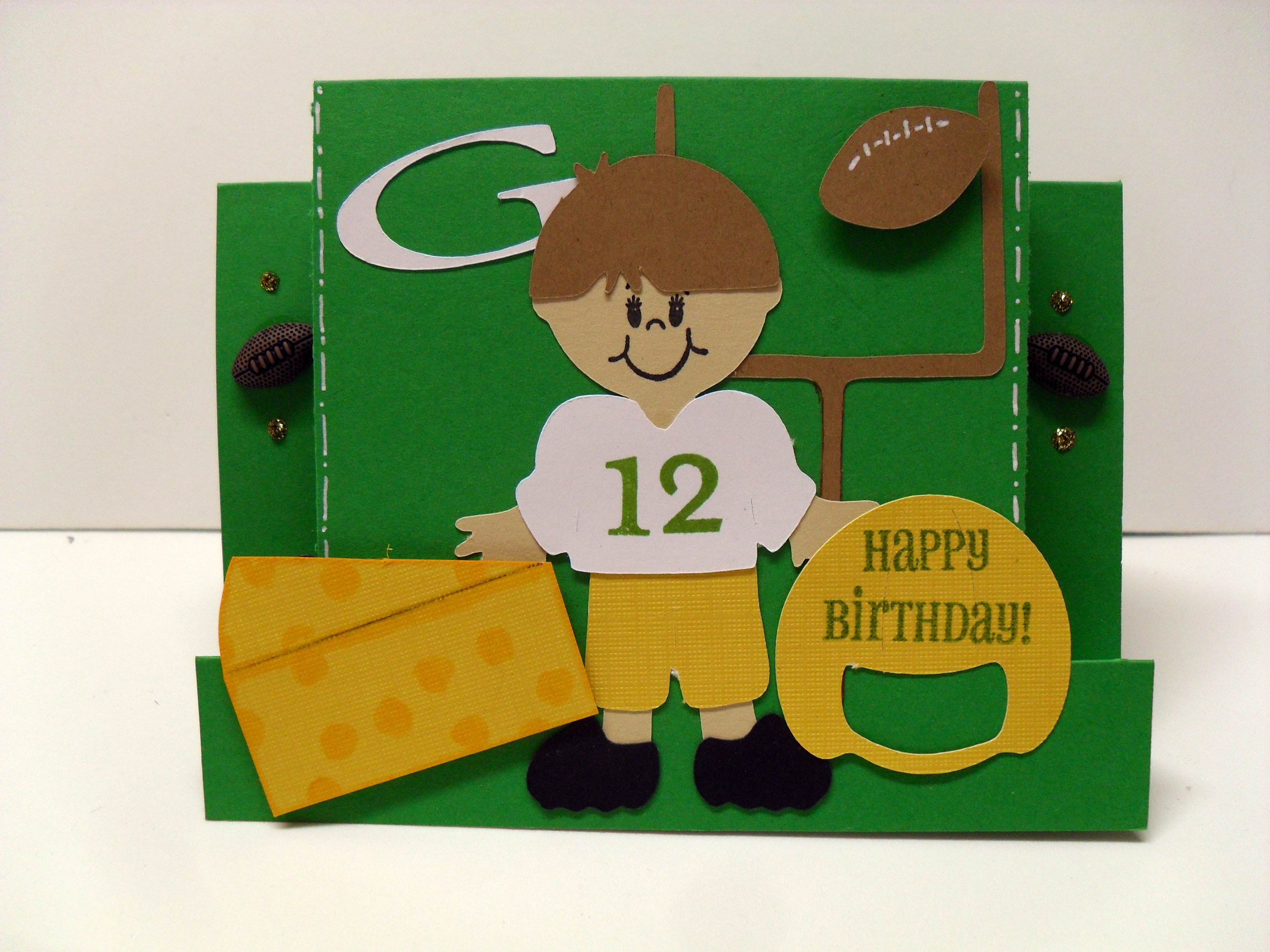 Card Green Bay Packers Birthday Card