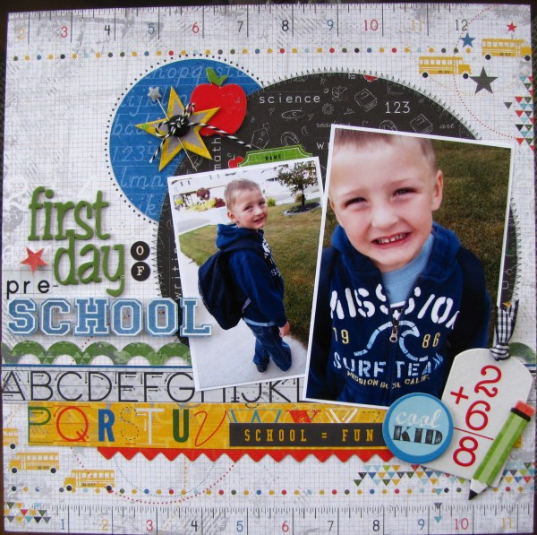 Preschool First Day of School Scrapbook Layouts