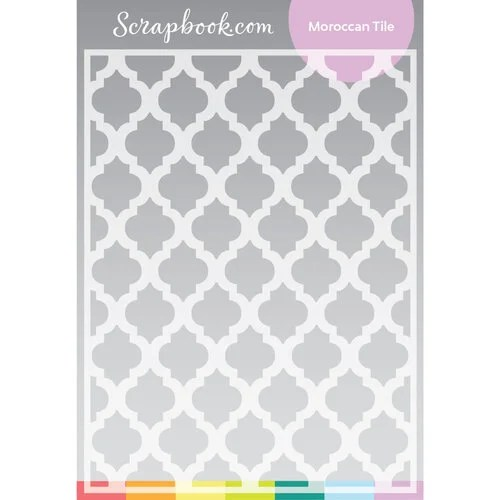 scrapbook com stencils moroccan tile 6x8