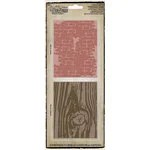 Sizzix Tim Holtz Texture Fades Alterations Embossing Folders Bricked Woodgrain