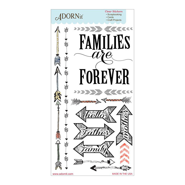 Carolee's Creations Adornit Family Path Forever Clear Stickers