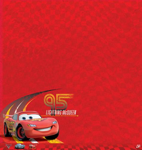 EK Success Disney Cars 2 Lightning McQueen Paper