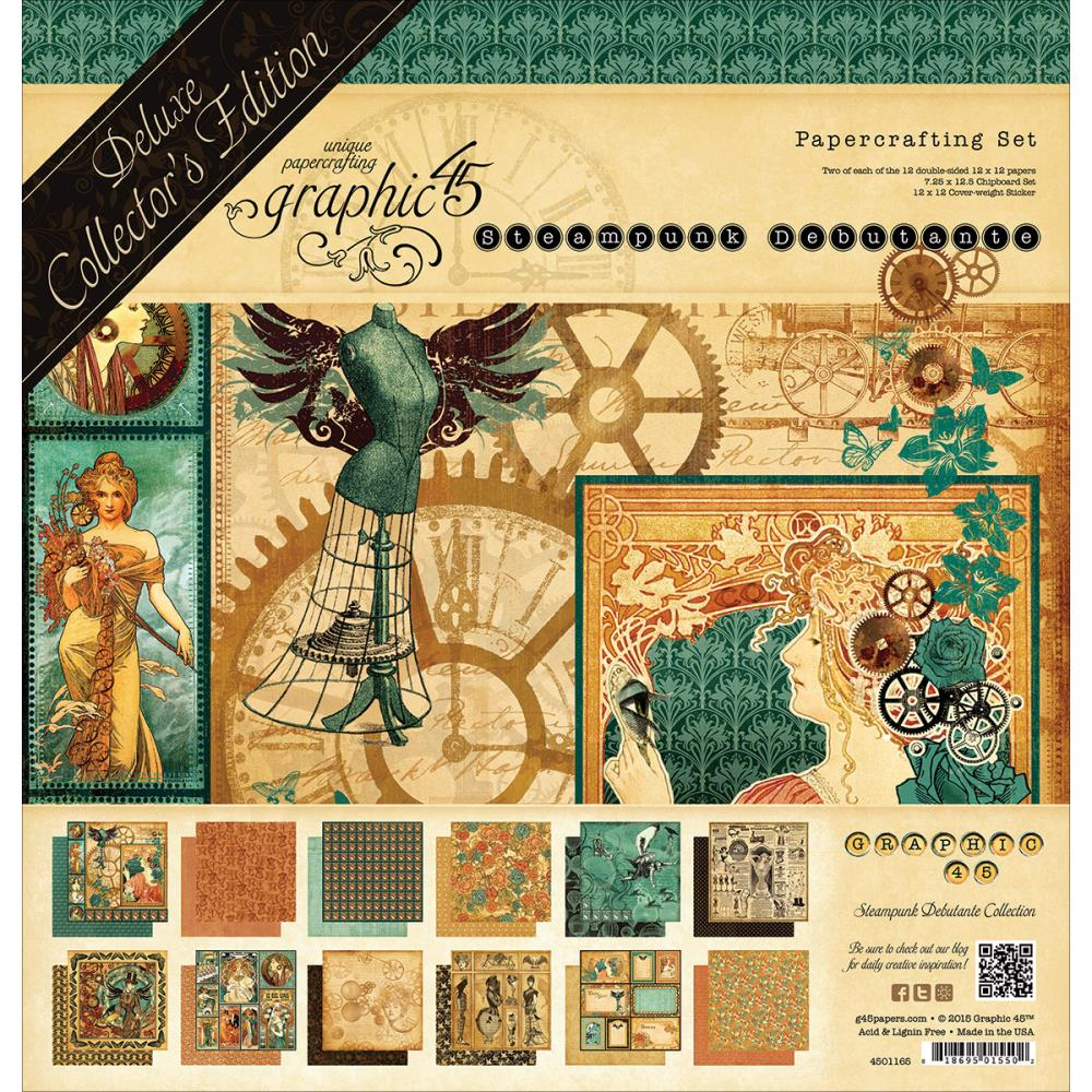 Graphic 45 Steampunk Debutante 12 x 12 Papercrafting Deluxe Collectors Edition