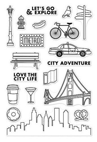 Hero Arts Adventure City Adventure Stamps