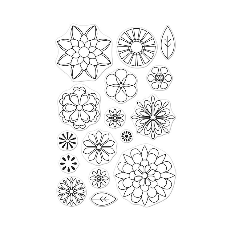 Hero Arts Blossoms for Coloring Stamps