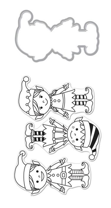 Hero Arts Santa's Elves Die and Stamp Set