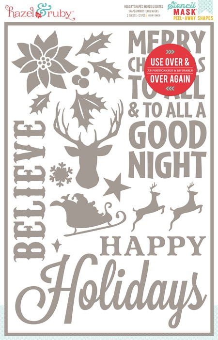 Hazel And Ruby Holiday Shapes Words And Quotes 12x 18