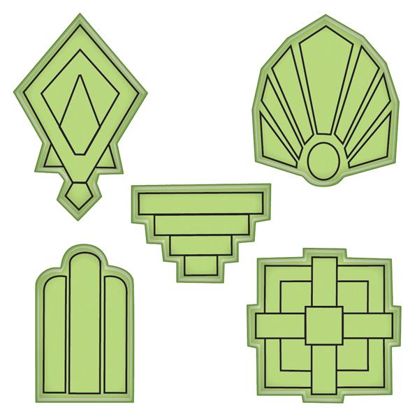 Inkadinkado Art Deco Shapes Stamp