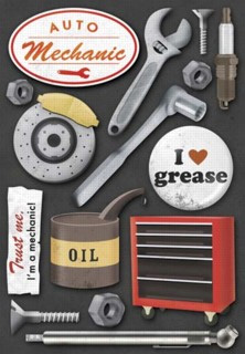Karen Foster Design  Auto Mechanic Collection  Stickers  Auto Mechanic