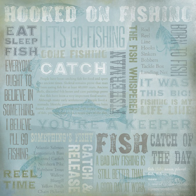 Karen Foster Hooked On Fishing Collage Paper