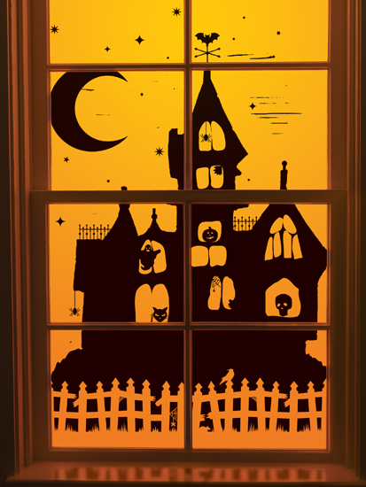 Martha Stewart Crafts  Halloween  Window Clings  Haunted House