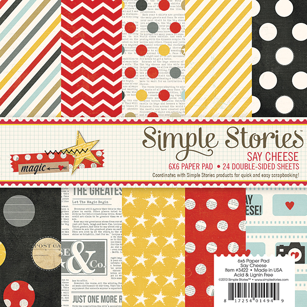 Simple Stories  Say Cheese Collection  6 x 6 Paper Pad