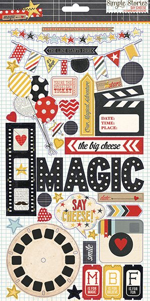 Simple Stories Say Cheese Collection Chipboard Stickers