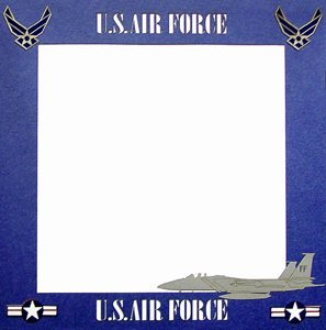 Paper Wizard  12x12 Page Border  Air Force