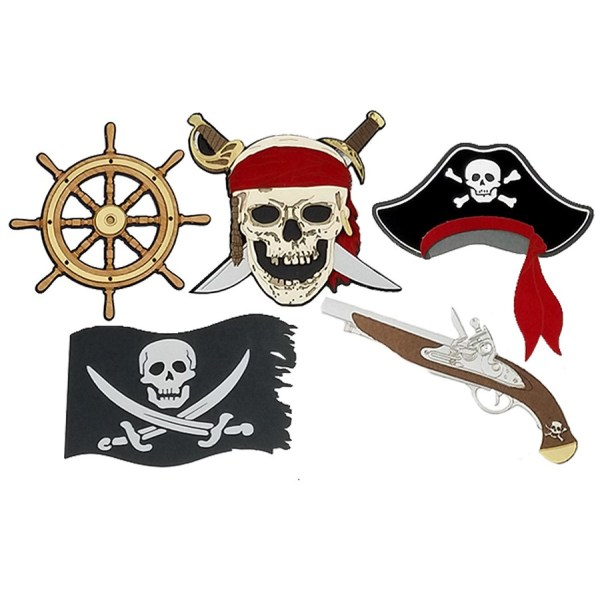 Paper Wizard Theme Park Pirates Life Minis Die Cuts