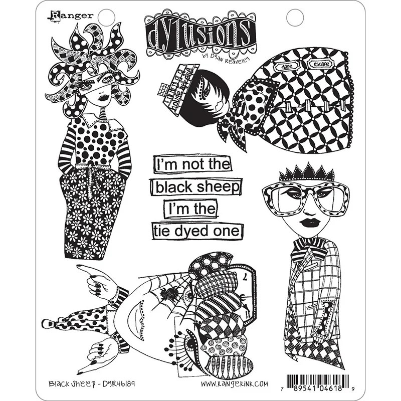 Ranger Ink Black Sheep Dylusions Stamps