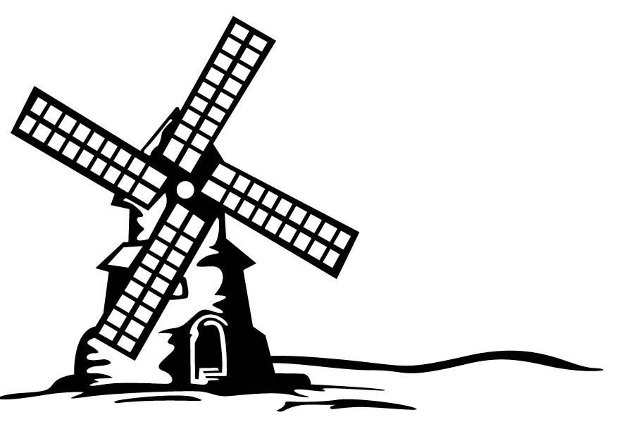 Gina Marie Windmill 4 x 6 Embossing Folder