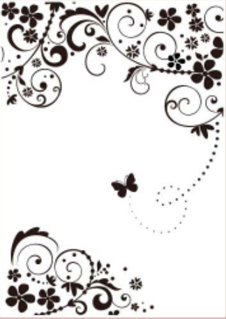 Gina Marie Flourished Butterfly 5 x 7 Embossing Folder