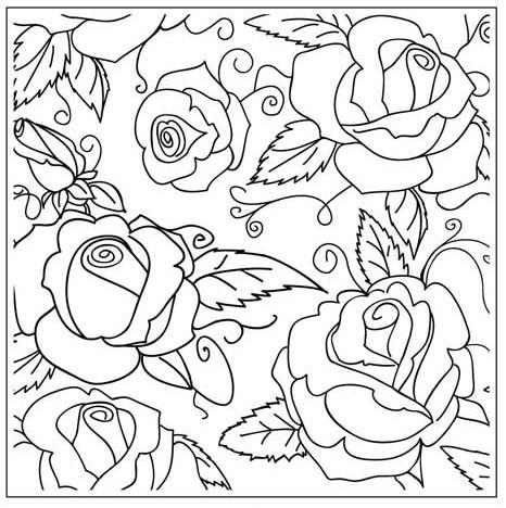 Gina Marie Rose Garden 5 x 5 Embossing Folder