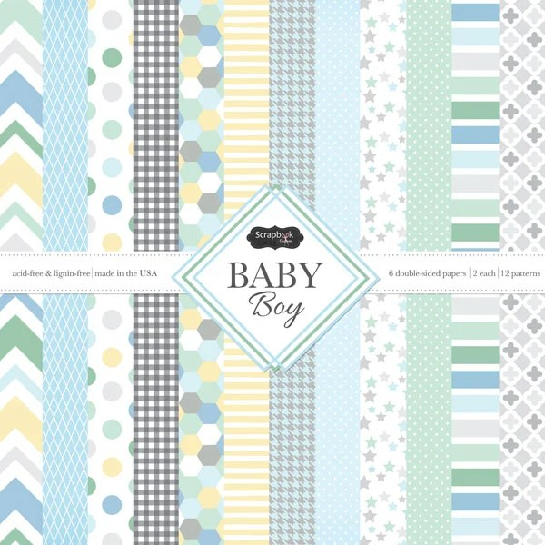 Scrapbook Customs Baby Boy 12 X 12 Paper Pack