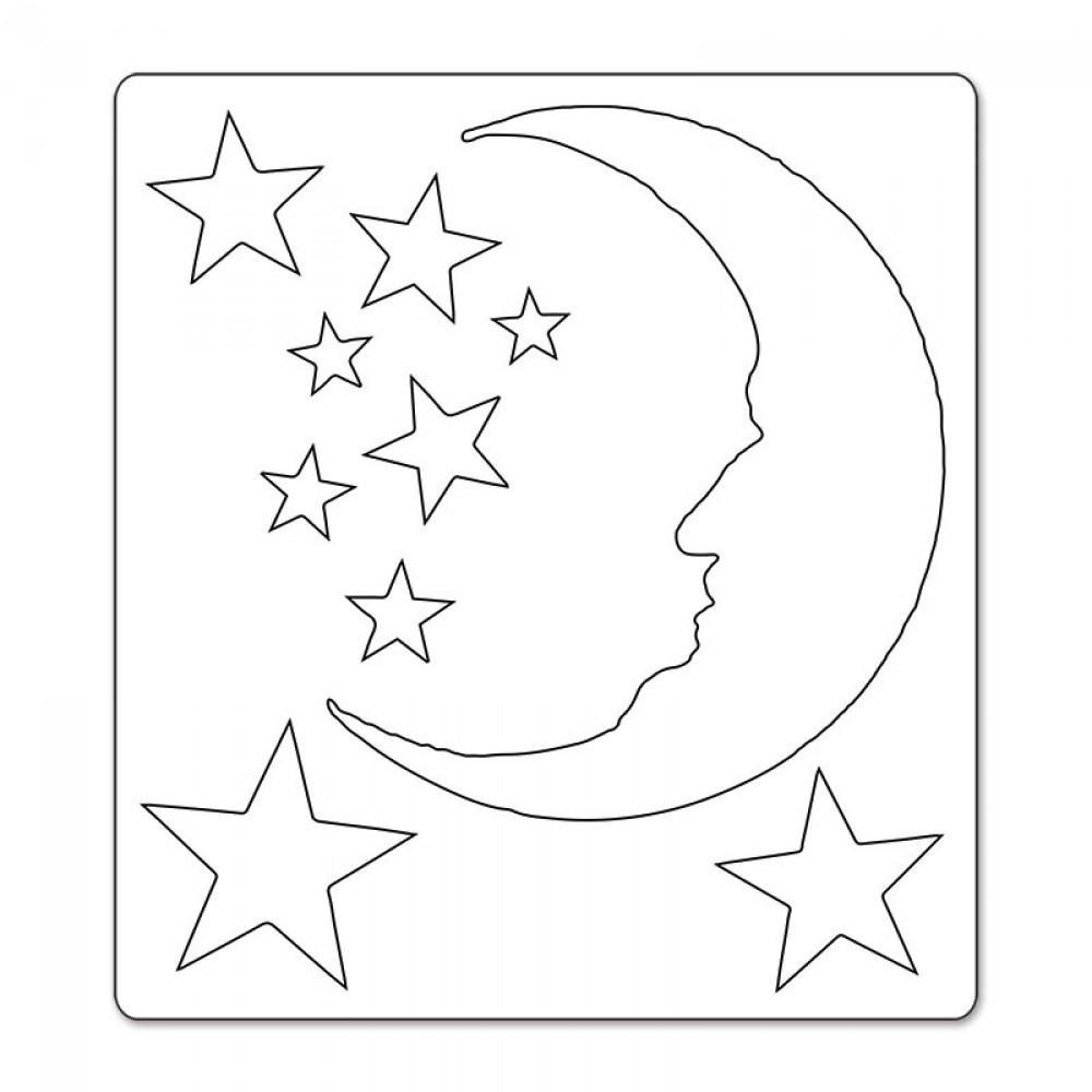Sizzix Tim Holtz Crescent Moon and Stars Bigz Extra Long